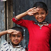 Sister and brother in a slum in Dhaka city. Thousand of families are recycling waste in the area.
