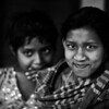 Girls in a slum in Dhaka