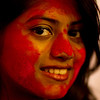Woman celebrating Durga Puja