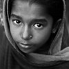 A girl in a slum in Dhaka.