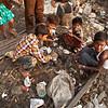 Children preparing their afternoon lunch.