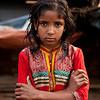 Girl in a slum