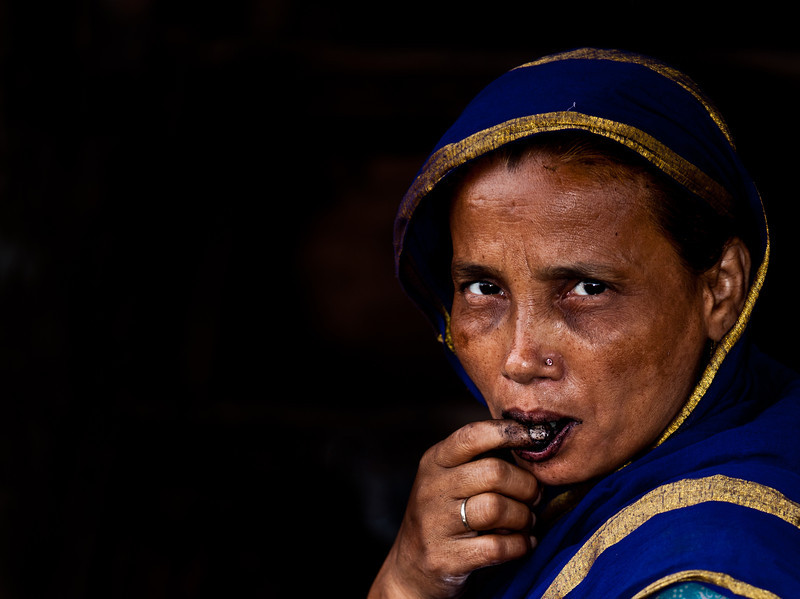 A woman living in Old Dhaka