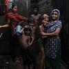 A family in monsoon Dhaka.
