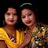 Two women in a city in Bangladesh.