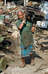 Metal scrap worker