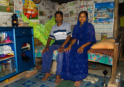 A home near the Chittagong ship breaking yards