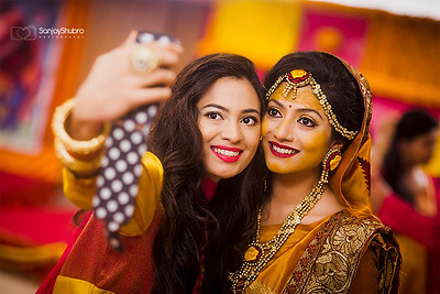 Wedding Guest With Mehendi Bride