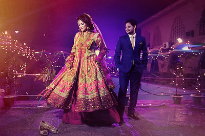 Trendy Bangladeshi Wedding Couple Portrait