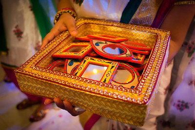 Colorful wedding mirror props bangladesh