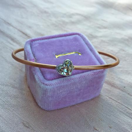 "1.03ct Heart Diamond ""Askew"" Bangle, EGL E SI3"