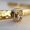 1.11ct Antique Cushion Cut Diamond Bangle GIA M SI1 17
