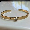 1.11ct Antique Cushion Cut Diamond Bangle GIA M SI1 3