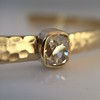 1.11ct Antique Cushion Cut Diamond Bangle GIA M SI1 16