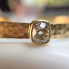 1.11ct Antique Cushion Cut Diamond Bangle GIA M SI1 8