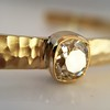 1.11ct Antique Cushion Cut Diamond Bangle GIA M SI1 18