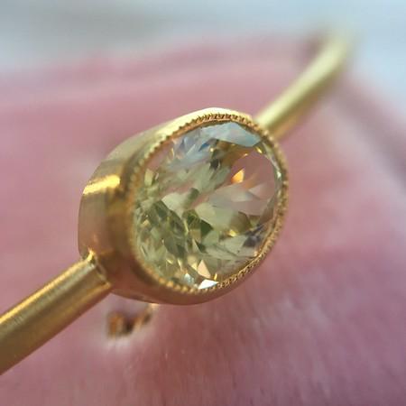 1.60ct Yellow Garnet Single Stone Bangle, Yellow Gold