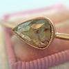 1.86ct Rustic Rose Cut Diamond Bangle, Rose Gold 8