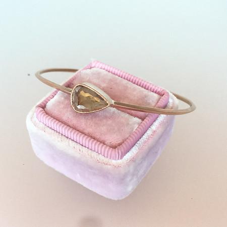 1.86ct Rustic Rose Cut Diamond Bangle, Rose Gold