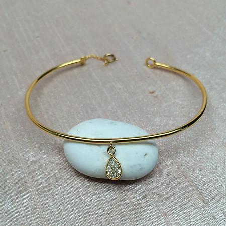 .45ct Pear Shaped Diamond Charm Bangle