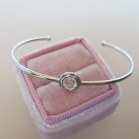 .45ct Round Rose Cut Diamond Single Stone Bangle