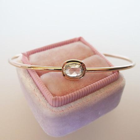 .47ct Oval Rose Cut Diamond Single Stone Bangle