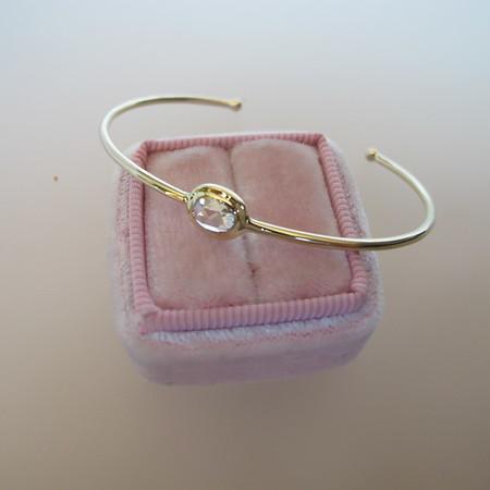 .57ct Rose Cut Diamond Bangle in Yellow Gold