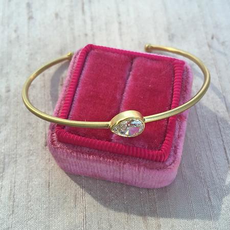 .70ct Vintage Pear Diamond Single Stone Bangle