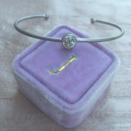 .76ct Old Mine Cut Diamond Single Stone Bangle