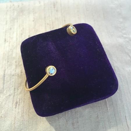 .80ctw Rose Cut Diamond Twin Stone Bangle