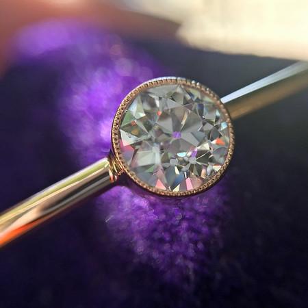 .81ct Old European Cut Diamond SIngle Stone Bangle