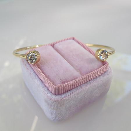 .91ctw Old European Cut Diamond Twin Stone Bangle