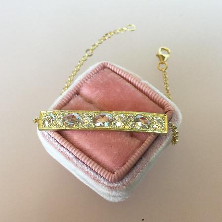 2.83ctw Diamond Mosaic Plaque Bracelet, Rose Cuts and OECs (PRESALE PRICE: $2695)