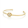 .95ctw Octagon Diamond Mosaic Bangle, Yellow Gold 1