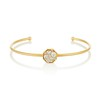 .95ctw Octagon Diamond Mosaic Bangle, Yellow Gold 0