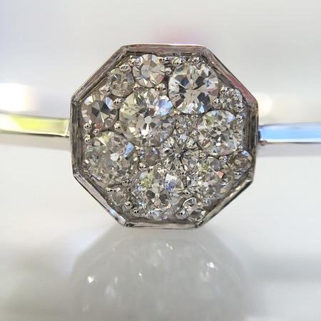 .95ctw Octagon Diamond Mosaic Bangle