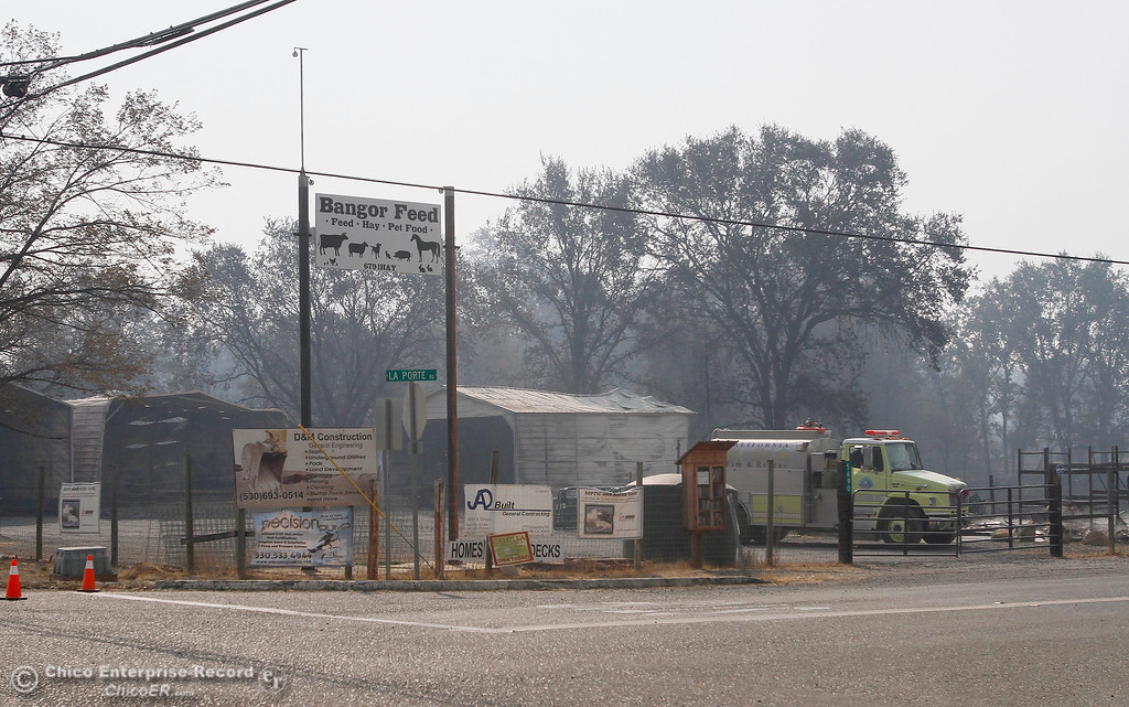 . Surveying the damage Tuesday, Oct. 10, 2017, in Bangor, California, after the La Porte Fire ripped through the unincorporated Butte County community. (Dan Reidel -- Mercury-Register)