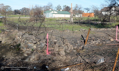 Although there are still plenty of areas that were visibly affected by the La Porte Fire in Bangor, Calif. state and federal agencies are in town this week helping with hazardous debris removal and disposal Wed. Dec. 13, 2017. (Bill Husa -- Enterprise-Record)