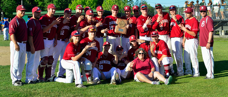 The Class A North baseball champion Bangor Rams will face Falmouth on Saturday at 2 p.m. for the state title.