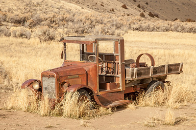 Rusted out old truck at Bannack State Park, Montana.