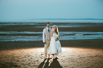 Deana & Chris - Backlit on the Beach