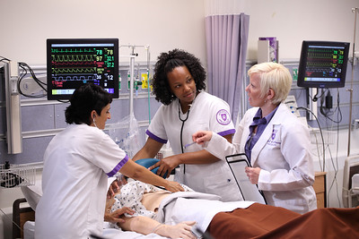 Dumke College, School of Nursing, Rieneke Holman, Tammy Buckway, nursing students