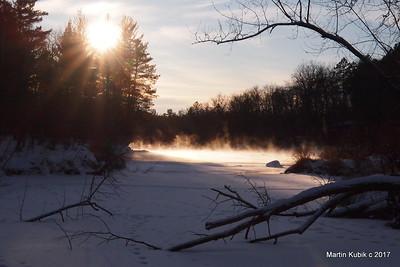 Kettle River vapor at sunset.