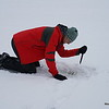 Checking ice thickness for safe crossing