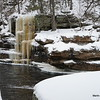 One of many icefalls along the river.