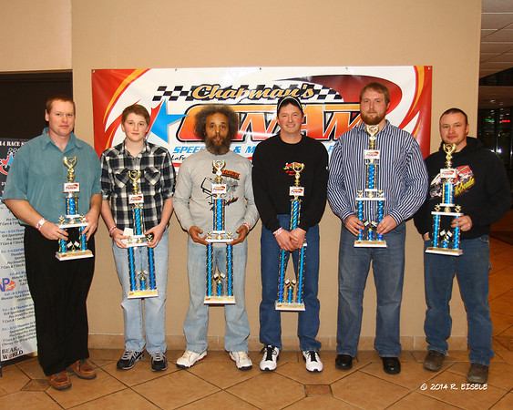 Thunder Car Drivers. Don Woodworth, Dakota Bechler, OJ White, Ray Bechler, Matt Zira, Shane Ray
