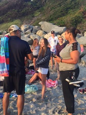 Sunday, August 28 1st Beach Baptism