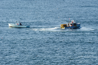 Lobstermen Checking their Traps