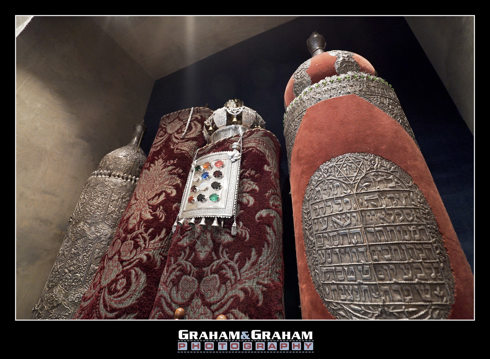 Historic torahs at Temple Israel of Hollywood, Los Angeles, by Graham and Graham Photography