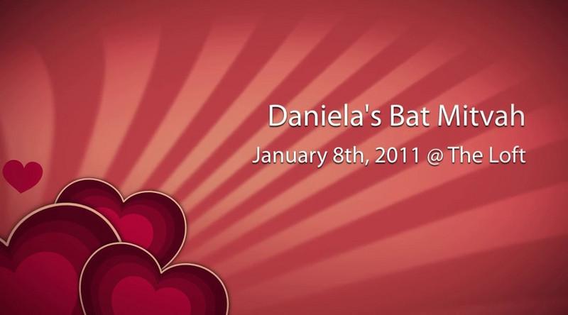 Daniela's Bat Mitzvah